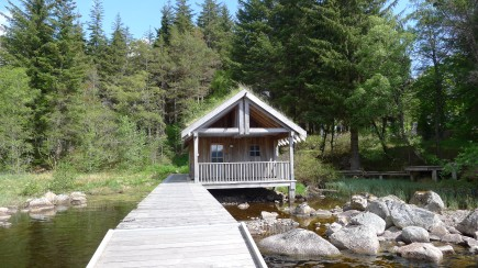 sauna au bord du Loch Coir' a' Bhric Beag